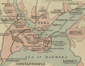 χάρτης Κωνσταντινούπολης