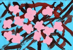 Ζωγραφική με τέμπερες, χαρτοκοπτική, χαρτοκολλητική και ανάγλυφο κολλάζ με γκοφρέ χαρτί.