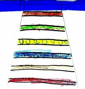 Προγραφή, ζωγραφική, χαρτοκοπτική & χαρτοκολλητική με γκοφρέ χαρτόνι.