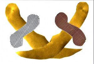 Χαρτοκοπτική & χαρτοκολλητική με χρυσοχάρτονο και οντουλέ ασημί-κόκκινο χαρτόνι.