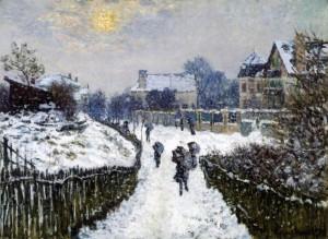 Κλοντ Μονέ, Boulevard Saint-Denis το χειμώνα, 1875