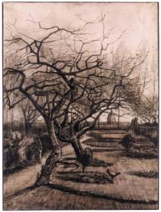 Vincent van GOGH , Κήπος στο Nuenen το χειμώνα, Μαρ. 1884