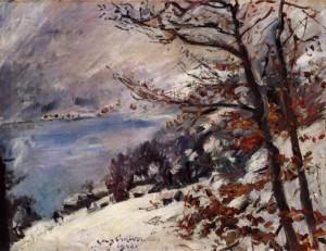 Lovis CORINTH, Η Walchensee το χειμώνα, 1923