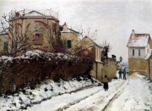 Camille PISSARRO, Ο δρόμος στην Pontoise το χειμώνα, 1873