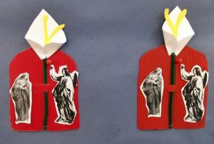 Η κάρτα για τον Ευαγγελισμό της Θεοτόκου στολισμένη με τον κρίνο.