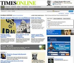 Η ηλεκτρονική έκδοση των Times