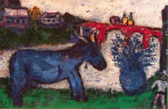 marc-chagall-blue-donkey-oil-painting