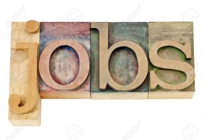 15195924-jobs-isolated-text-in-vintage-letterpress-wood-type-stained-by-color-inks-Stock-Photo