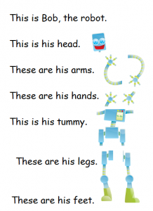 Robot body vocabulary