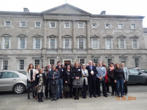 Irish Parliament, meeting Minister Flanagan