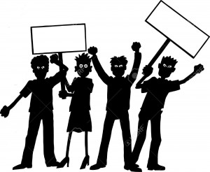 10169658-Group-of-protesters--Stock-Vector-protest-silhouettes-protesters