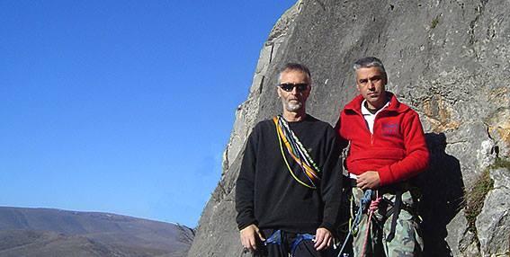 """Θανάσης Καλλιανιώτης και Θεόδωρος Φασούλας στη βάση της διαδρομής Ἱπταμενο Τρυπάνι"""", έτοιμοι για δράση"""