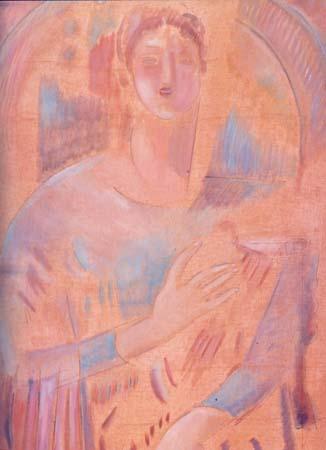 Κ. Παρθένης: Άγγελος με άρπα.Συλλογή Alpha Τραπέζης Πίστεως.