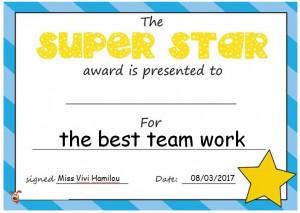 Award for the best team work!