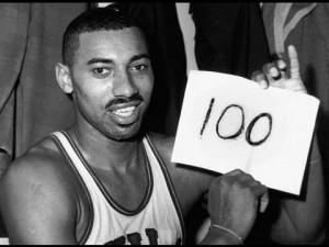 Ο Chamberlain μετά το παιχνίδι των 100 πόντων