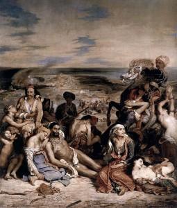 Ευγένιος Ντελακρουά (Ferdinand Victor Eugène Delacroix): Η ΣΦΑΓH ΤΗΣ ΧIΟΥ (Scène des massacres de Scio), 1824, ΜΟΥΣΕΙΟ του ΛΟΥΒΡΟΥ
