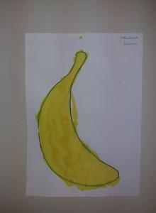 μπανάνα με στένσιλ