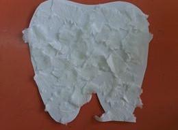 δόντι με χαρτί κουζίνας