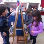 ζωγραφική στο καβαλέτο σε δυάδες