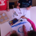 ζωγραφική στα τραπέζια σε δυάδες
