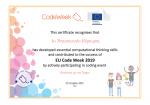 Πιστοποιητικά συμμετοχής στην Codeweeek 2019