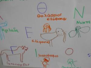 Ζωγραφίσαμε ένα ζώο που έχει το ίδιο αρχικό με το όνομά μας