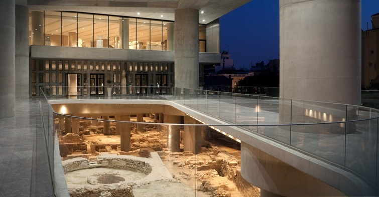 είσοδος του μουσείου της ακρόπολης