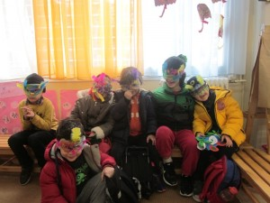 Φυσικά φτιάξαμε μάσκες....