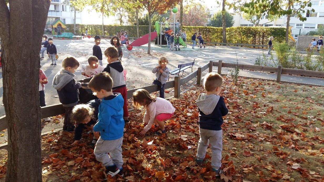 France Ecole Maternelle Saint Exupéry Picking Up Leaves For The Compost