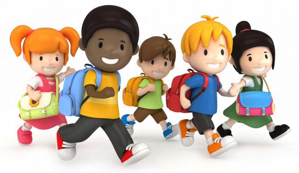 cartoon-children-at-school