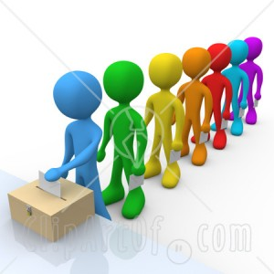 standing-at-the-front-of-a-line-of-diverse-voters-putting-their-voting-envelope-in-a-ballot-box-during-a-presidential-election-clipart-illustration-image