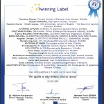eTwinning Label για το έργο «An apple a day keeps doctor awzy»