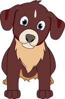 brown puppy dog clipart