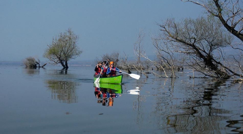 lake-by-boat
