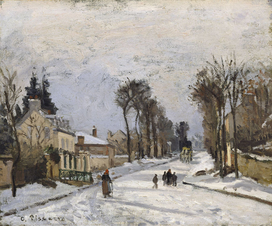 Pissarro_Road-to-Versailles-at-Louveciennes_1869