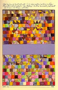 Paul Klee, Once emerged from the grey of night, 1918.