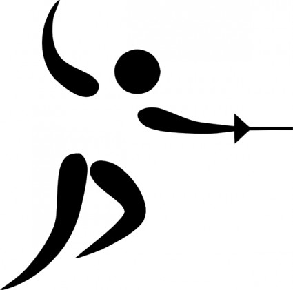 olympic_sports_fencing_pictogram_clip_art_15946
