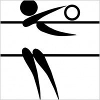 olympic_sports_volleyball_indoor_pictogram_clip_art_15985