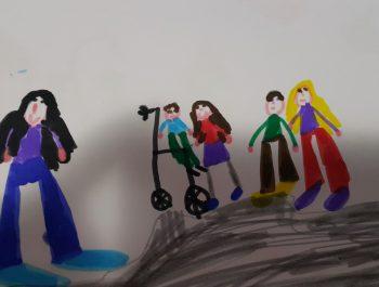 Η Α΄2 τάξη ζωγραφίζει για τη διαφορετικότητα