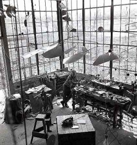 Calder in his Roxbury studio, 1941