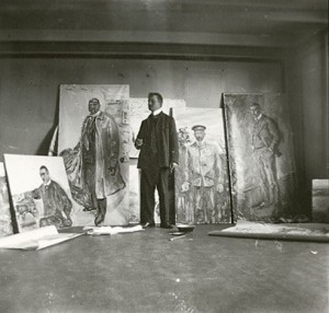Edvard Munch, Self-Portrait in the Studio at Skrubben in Kragerø 1909-10