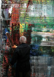 Gerhard Richter -art in the making