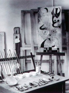 Joan Miro's taboret and studio