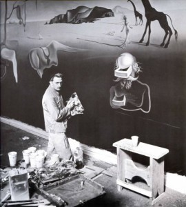 Salvador Dali working