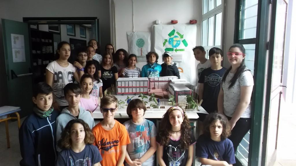 Η μακέτα του σχολείου μας από τους μαθητές του Στ' 1