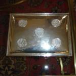 Ασημένια πουροθήκη με εγχάρακτες τις υπογραφές των δωρητών της.
