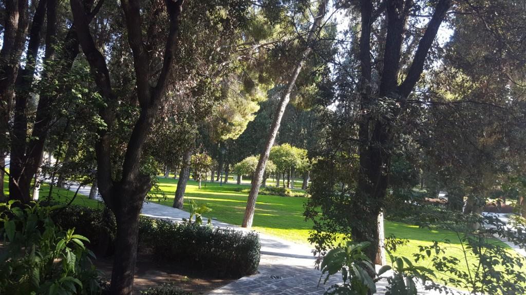 Ο κήπος της Προεδρίας.