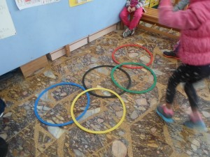 Ο κάθε κύκλος συμβολίζει και μια Ήπειρο.