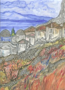 Μονεμβασιώτικο τοπίο της Αμαλίας Κ. Ηλιάδη