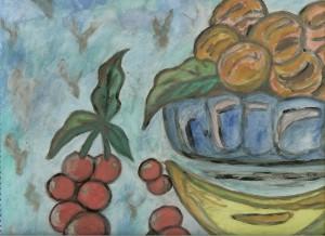 Νεκρή φύση με Φρούτα της Βάσως Κ. Ηλιάδη
